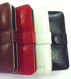 Wholesale Stand Leather Case Cole Flip Back Cover for iphone G th black red pink brown