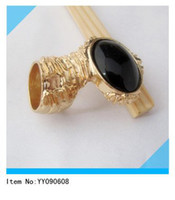 Fashion Rings China (Mainland) Black oval stone cluster arty finger ring US7# 1.7CM,wholesale from YY090608