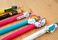 7955 ball point ink - Lovely Cute cartoon multi design option blue ink mm Ball Pen point Stationery plastic office