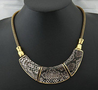 Wholesale Min order can mixed item Hot Sell Unique and Speical Snake pattern Necklace Choker Necklace Je
