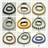 Wholesale 45 OFF Chirstmas jewelry set Gift Shamballa bracelet amp necklace for clay crystal beads Free Shamba