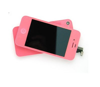 Wholesale For iphone S color colorful lcd display screen assembly back cover housing kit set
