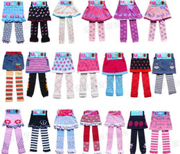 Wholesale 24designs Child Princess dress girls Leggings divided skirt pantyhose child