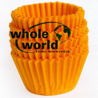 Wholesale Yellow Small tart cake chocolate paper cases cupcake cake liner total Diameter is cm box