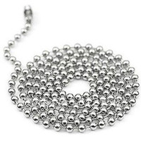 Wholesale 50pcs mm inch Stainless Steel Ball Beads Necklace Chain Stainless Steel Ball Chai