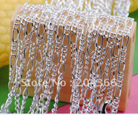 Wholesale wholesale10PCS inch mm sterling silver Figaro Chain necklace jewelry