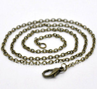 Wholesale 24 Bronze Tone Lobster Clasp Chain Necklaces x3mm quot