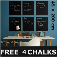 Wholesale 45 cm Blackboard Removable Vinyl Wall Sticker Chalk Board YHF