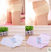 Wholesale Ice silk pure color ventilated smooth a chip radiant lady underwear color more optional