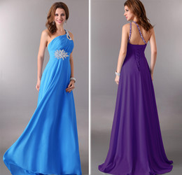 Wholesale New Arrival Sexy One shoulder Design Empire Long Formal Evening Dress Party Gown CL3384