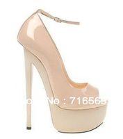 Wholesale 2012 Sexy Vogue Women High Heels Platform Sandals cm Sexy Patent Leather Wedding Party Women s Shoes