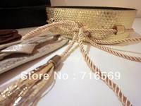 Wholesale For Iva Fashion Faux Leather Tassel Elastic Belt Women Waistband Original Supply