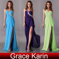Grace Karin Classic Beaded One Shoulder Evening Formal Dress...