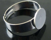 adjustable ring blank - Hot Tibetan Silver Tone Adjustable Base Blank Open Rings