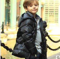 Wholesale long section of England style children s clothing down jacket boys feather duck garment piece col