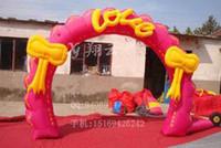 Wedding   4 meters butterfly gate rainbow doors gas die inflatable arch