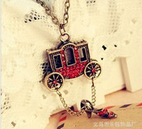 Women's Party Alloy Direct manufacturers 2013 fashion necklace Retro Red Wagon Rhinestone sweater chain Necklaces