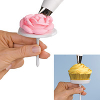 Wholesale 100 sets Cake Icing Cream Flower Nails Set Cupcake Stand Sugarcraft Decorating Tool