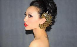 Sexy women Gothic Punk Rock multi-role leaves corsage Ear Cuff Clip Earring Brooch Ear Hook Earrings
