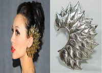 Gift earrings sexy - 2104 new Sexy Gothic Punk Rock multi role nightclub leaves Ear Cuff Clip Earring Brooch Ear Hook Earrings Christmas hot selling