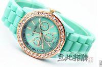 Unisex diamond brand watch - 1PCS NEW FASHION GENEVA WATCH BRAND FOR GIFT HOT SALE DIAMONDS WATCH A0015