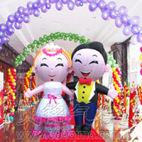 Wholesale The bridegroom bride cartoon modelling custom wedding inflatable doll