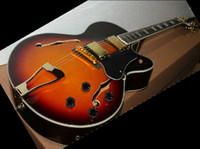 Wholesale best Factory guitar Vintage Semi Hollow jazz Electric Guitar new arrival in stock
