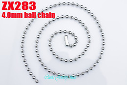 Hot sale great quality Fashion Jewelry 4.0mm 316L stainless steel Bead chain ball necklace men Father's gift punk 18''-36inch 20pcs per lot