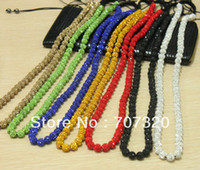 Wholesale 45 OFF Shamballa men long or women necklace for clay crystal beads Free Shamballa earring