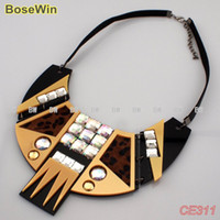 Wholesale Stars Style Unique Design Necklaces Fashion Acrylic Sheet Choker Jewelry With Leather Chains CE311