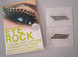 Wholesale 50pcs EYE ROCK crystal tattoos tatouage des YEUX MAKE UP ARTIST RESULTS