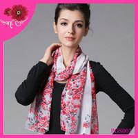 Wholesale fashion wintersweet chiffon scarf silk chiffion scarf chiffion scarf