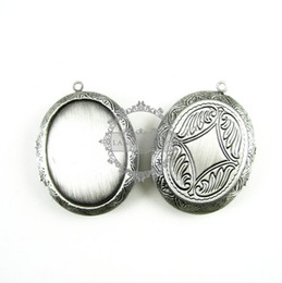 Wholesale 30x40MM setting size vintage brass antiqued silver oval locket pendant photolocket photo locket1