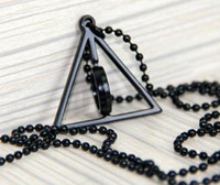 Wholesale HARRY POTTER Deathly Hallows Logo Metal Necklace cosplay toy MIDDLE ring circle MOVING