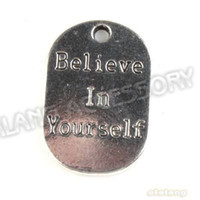 Pendants believe necklace silver - Carved Believe Tag Antique Silver Plated Pendant Alloy Charms Pendant Fit Je