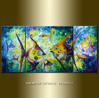 One Panel Oil Painting Abstract 100% handmade 3 panel canvas art abstract oil painting framed COMF306