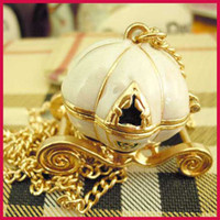 Wholesale SEKKES Mixed Fashion Vintage Pumpkin Carriage Locket Pendant Necklace Jewe