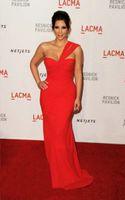 Reference Images One-Shoulder Chiffon Hot Sale One Shoulder Chiffon Red Celebrity Evening Dress of Kim Kardashian BM678