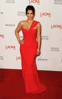 Reference Images One-Shoulder Chiffon One Shoulder Chiffon Red Celebrity Evening Dress of Kim Kardashian BM678