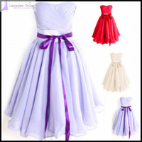 Chiffon add ribbon - 2014 HOT A Line convertibleTea Length Short Lavender Bridesmaid Dresses Gown Birthday Bridal Party Prom Dress Floor Length need add usd