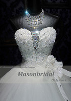 Wholesale 2013 Sexy Ball Gown Sweetheart Handmade Flower Sequin Crystal Embroidery Luxury Wedding Dresses W104