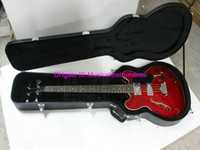 jazz bass - Red Hollow EB D bass Classic Jazz Electric Bass Best OEM with Hardcase C0501