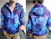 Wholesale Qltrade_3 galaxy Camping coat amp Hiking Apparel blue Jacket baseball charge clothing
