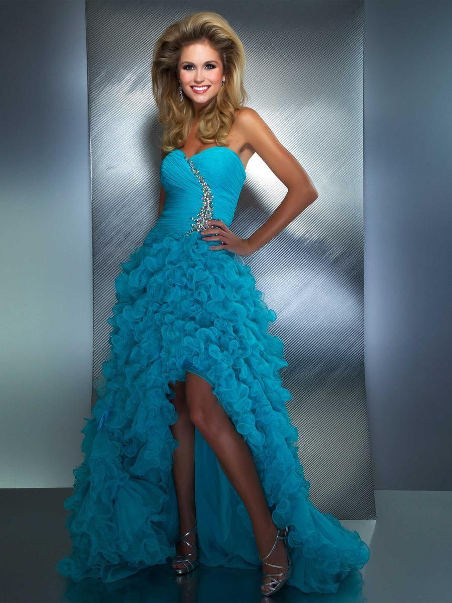 WHOLESALE EVENING DRESSES - BUY 2013 SEXY PROM DRESSES CORAL BLUE HI ...
