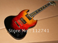 other other other Wholesale - New Arrival Custom SG electric guitar FLAMES TOP MS sunburst - free shipping