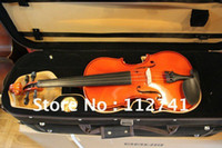 Cheap Wholesale -Professional Flame top 2012 Handmade 4 4 common Violin HOT