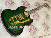 other other other Wholesale - custom SG green classic electric Guitar with vibrato