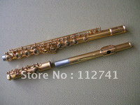 Wholesale New Arrival Advanced Carved Gold C KEY flute With hard case