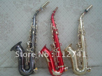 Wholesale NEW Professional Gold red black Color Select soprano saxophone withcase OEM saxophone Customize