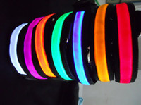 Wholesale 50pcs Useful and Waterproof LED light dog collar light pet collar pet light seat belt collars